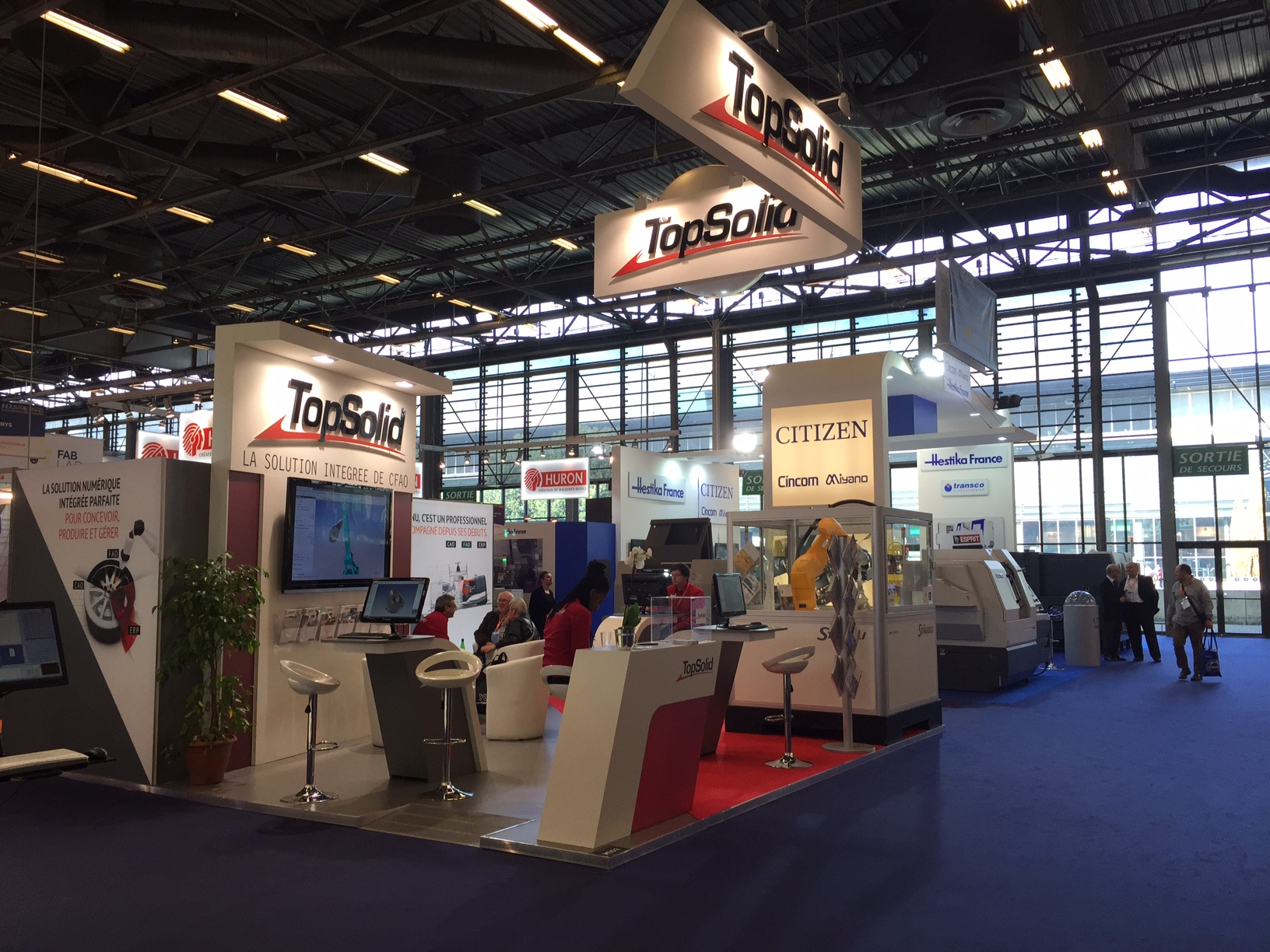 Stand topsolid salon de l 39 industrie 2016 centthor for Salon informatique paris