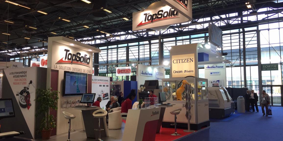 Stand TopSolid – Salon de l'Industrie – 2016