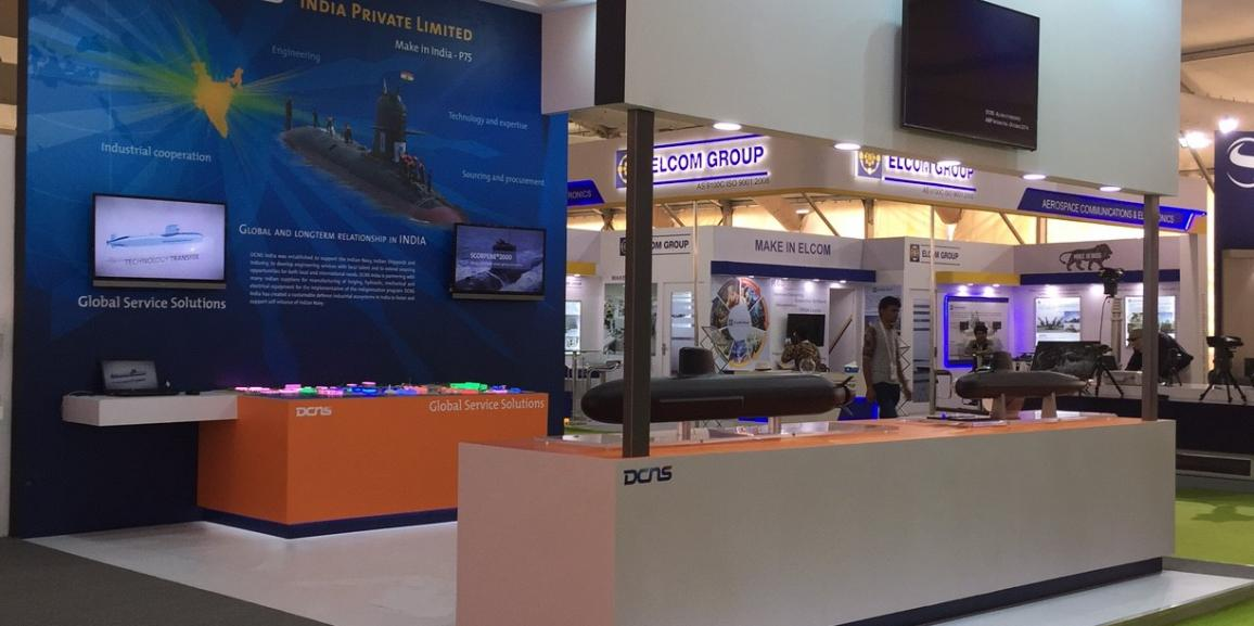 Stand DCNS – Defexpo Inde – 2016