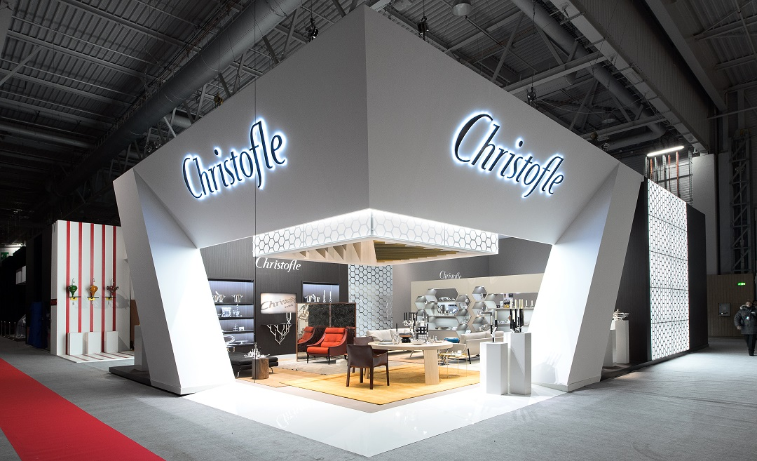 stand christofle salon maison et objet 2014 centthor. Black Bedroom Furniture Sets. Home Design Ideas