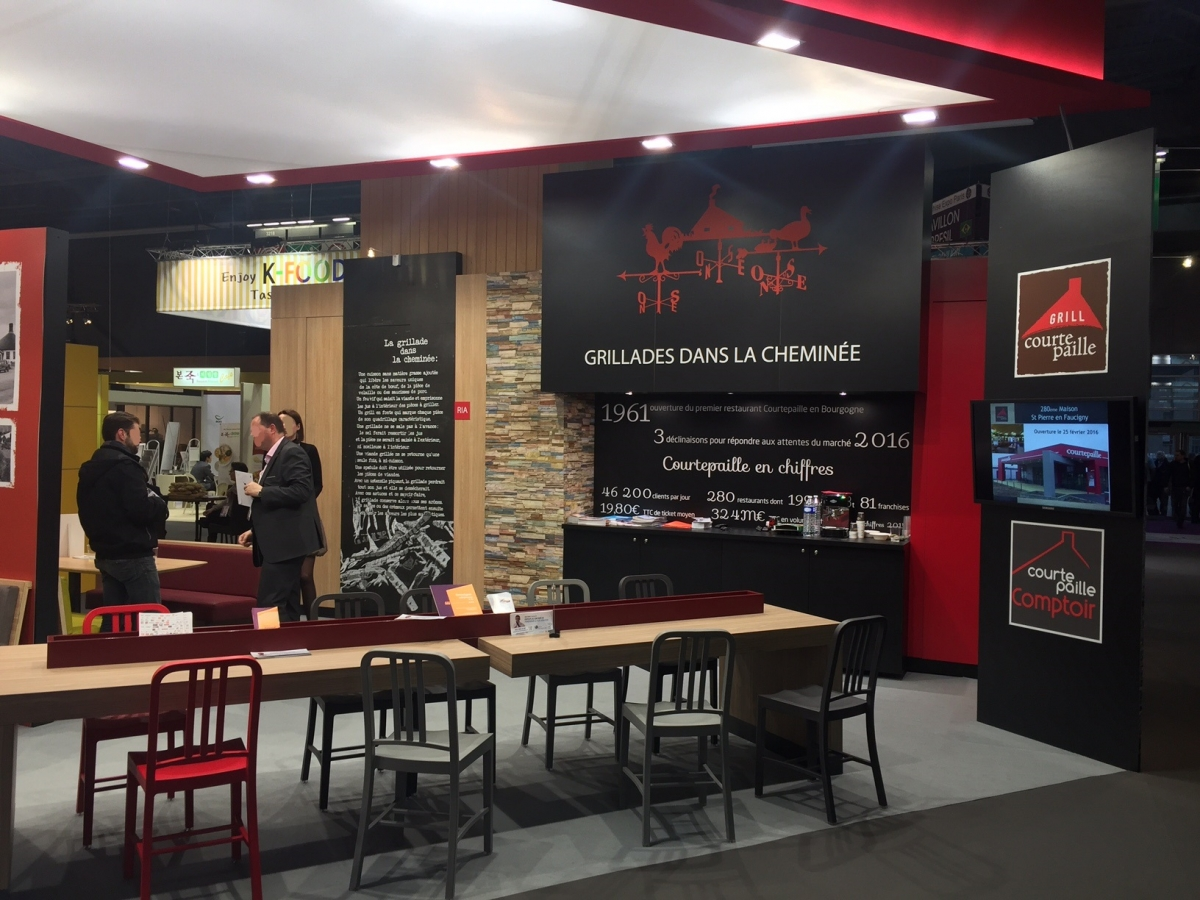 Stand courtepaille salon de la franchise 2016 centthor for Le salon de la franchise