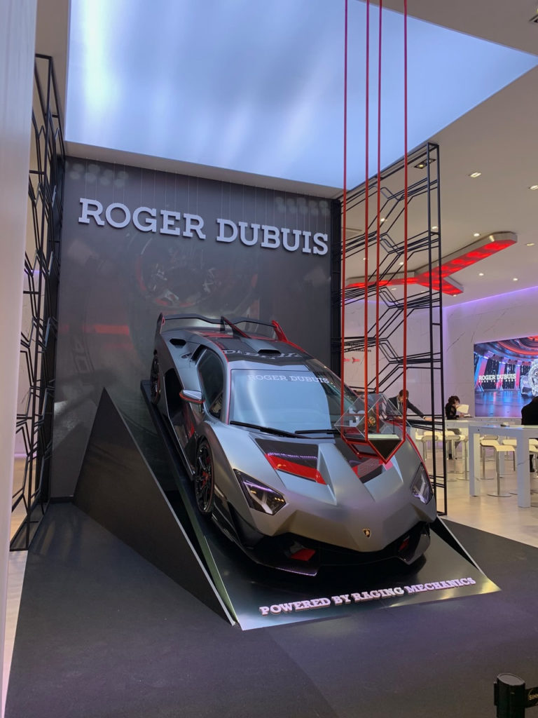 Stand salon ROGER DUBUIS lors du salon SIHH DE GENEVE 2019